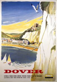 White Cliffs of Dover, Kent. Vintage BR Travel poster by Studio Seven. 1958. British Railways